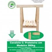 Cavalete C/ Prateleira Decoração Madeira Reforçado 75x80 Cm  NeonX