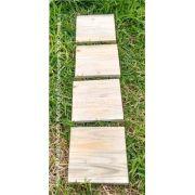 Deck Madeira Modular 30x30 cm Pinus  Sem Frestas NeonX