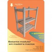 Estante Modular 3 Prateleiras Madeira Maciça 65x50x29 cm Sem Pintura NeonX