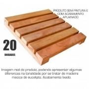 Kit 20 Unidades Deck De Madeira Modular Base 30x30 Cm Neonx