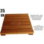 Kit 25 Unidades Deck De Madeira Modular Base 30x30 Cm Neonx Pintado