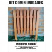Kit 6 Un. Cerca para Jardim, Horta ou Decoração Clássica Modular Reforçada 50x65 cm Neonx