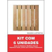 Kit 6 Unidades Deck De Madeira Modular Base 30x30 Cm Neonx