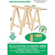 Par Cavalete Mesa Decoração Madeira Reforçado 75x80 Cm Pinus