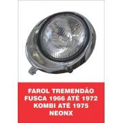 Par Farol Tremendão Fusca 66/72, Kombi /75 + Par Soquete NeonX