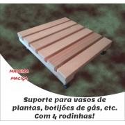 Suporte de Madeira para Vasos Botijão Com Rodas 30x30 cm NeonX