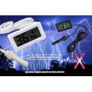 Termômetro Digital Higrômetro Umidade Cabo E Sensor Externo