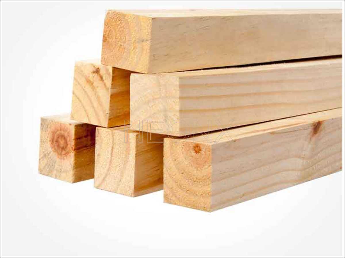 50 Unidades Tábua de Madeira de Pinus 10x2x100 cm Acabamento Aplainado NeonX
