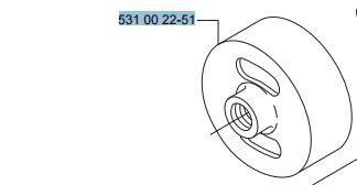 TAMBOR Embreagem Roçadeiras 142R/143R Husqvarna Cód 531002251