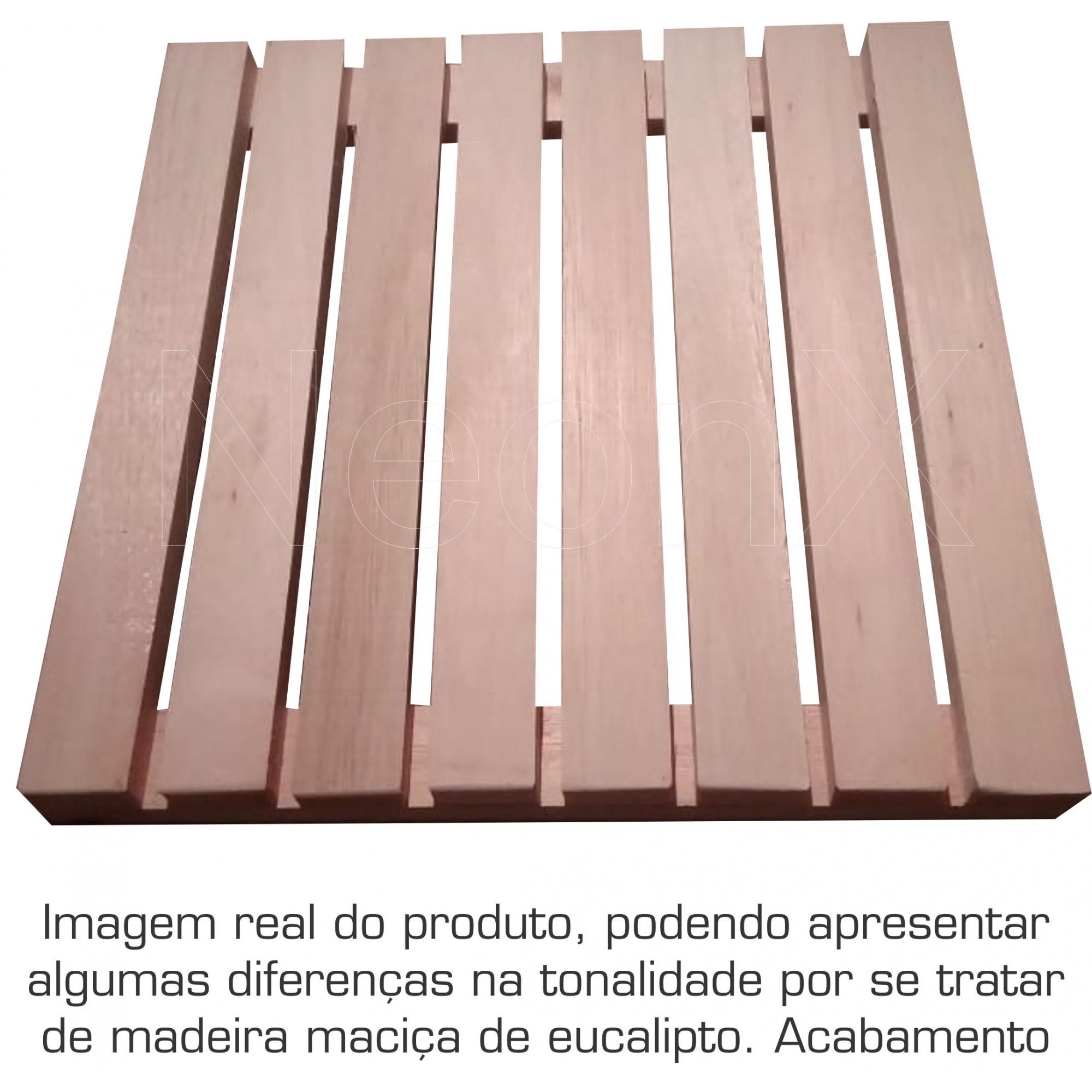 5 Un. Deck De Madeira Modular 40x40 Cm Acabamento Lixado Neonx