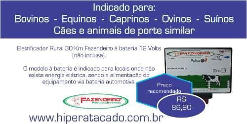 Eletrificador Rural Para Cercas Elétricas 30km 12volts