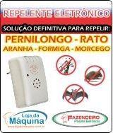 Repelente Eletrônico Atoxico Pernilongo Insetos Rato Morcego