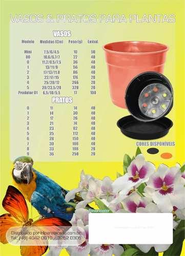 Vaso De Plástico Preto Mod.3 22,0/17,0/15,0 Cm Pacote 20 Un