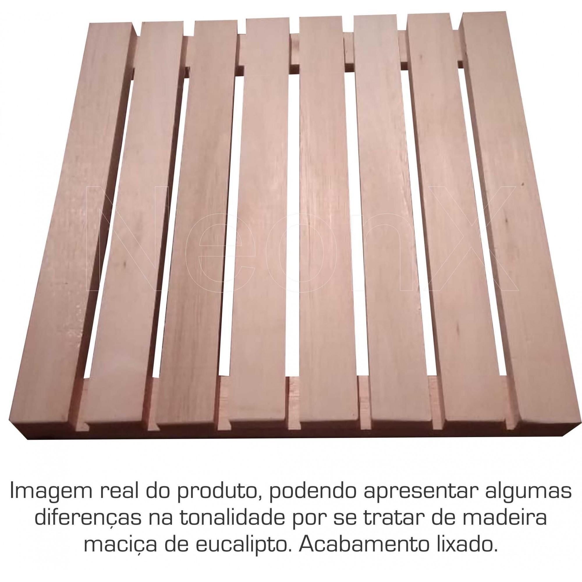 6 Un. Deck De Madeira Modular Base 40x40 Cm Pintado Osmocolor ou Verniz Neonx