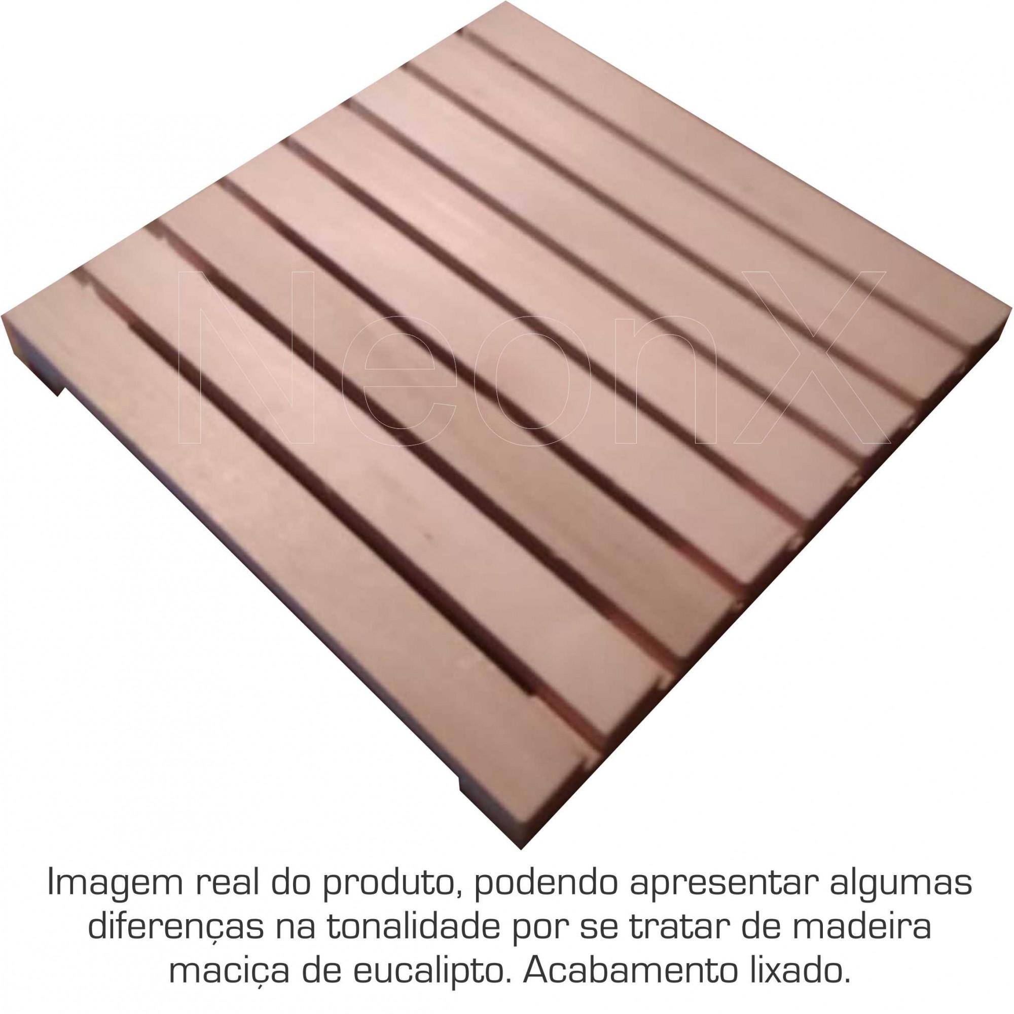 7 Un. Deck De Madeira Modular 40x40 Cm Acabamento Lixado Neonx