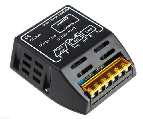Controlador De Carga 12/24v 240/480w 20a Para Módulo Solar