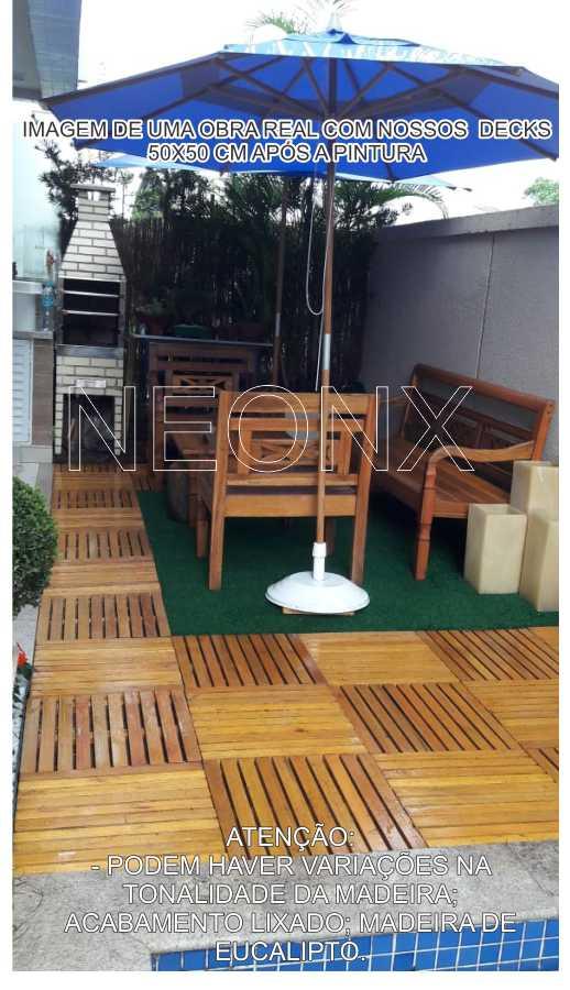 9 Un. Deck De Madeira Modular Base 50x50 Cm Acabamento Lixado Neonx