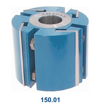 Cabeçote para Máquinas Plainas e outras Redondo Completo D125xd38 mm Facas 160mm