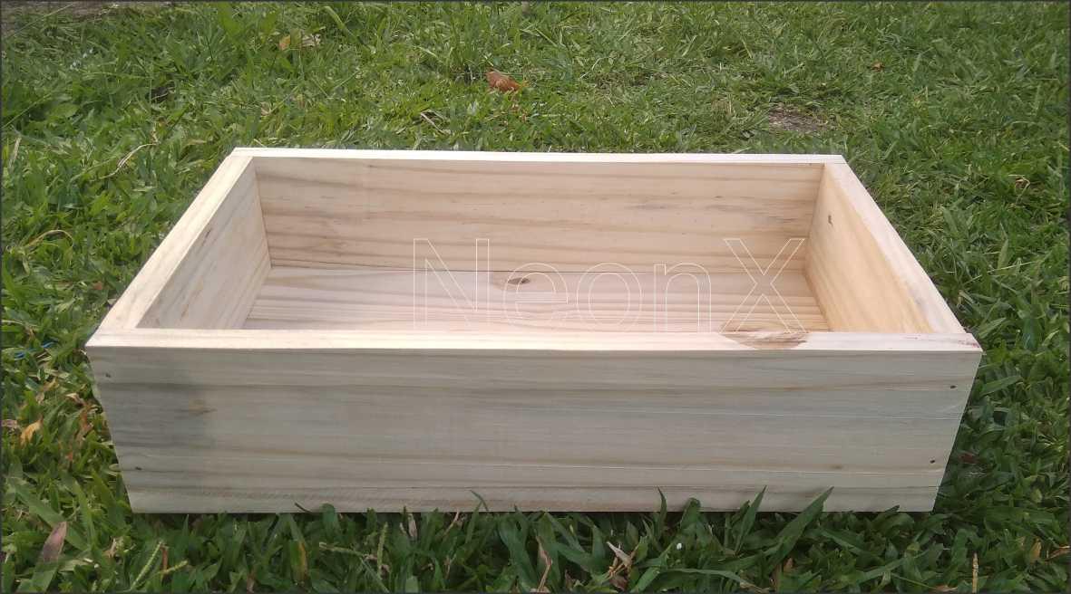 Caixa Organizadora De Madeira 50x30x12 cm NeonX