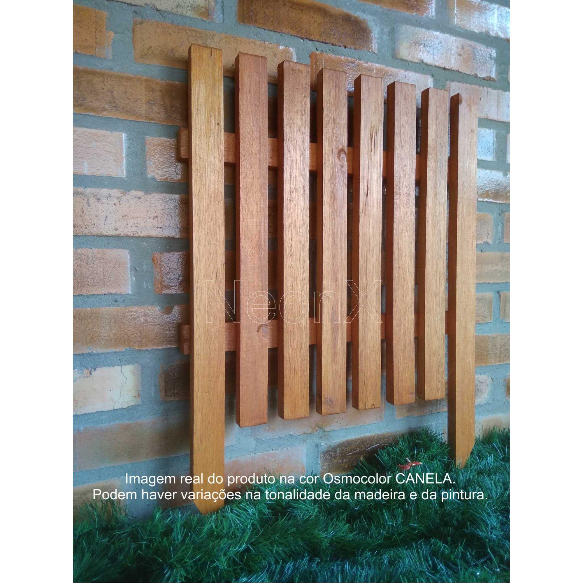 Cerca Cerquinha para Jardim, Horta ou Decoração Clássica Modular Reforçada 50x65 cm Com Pintura Neonx