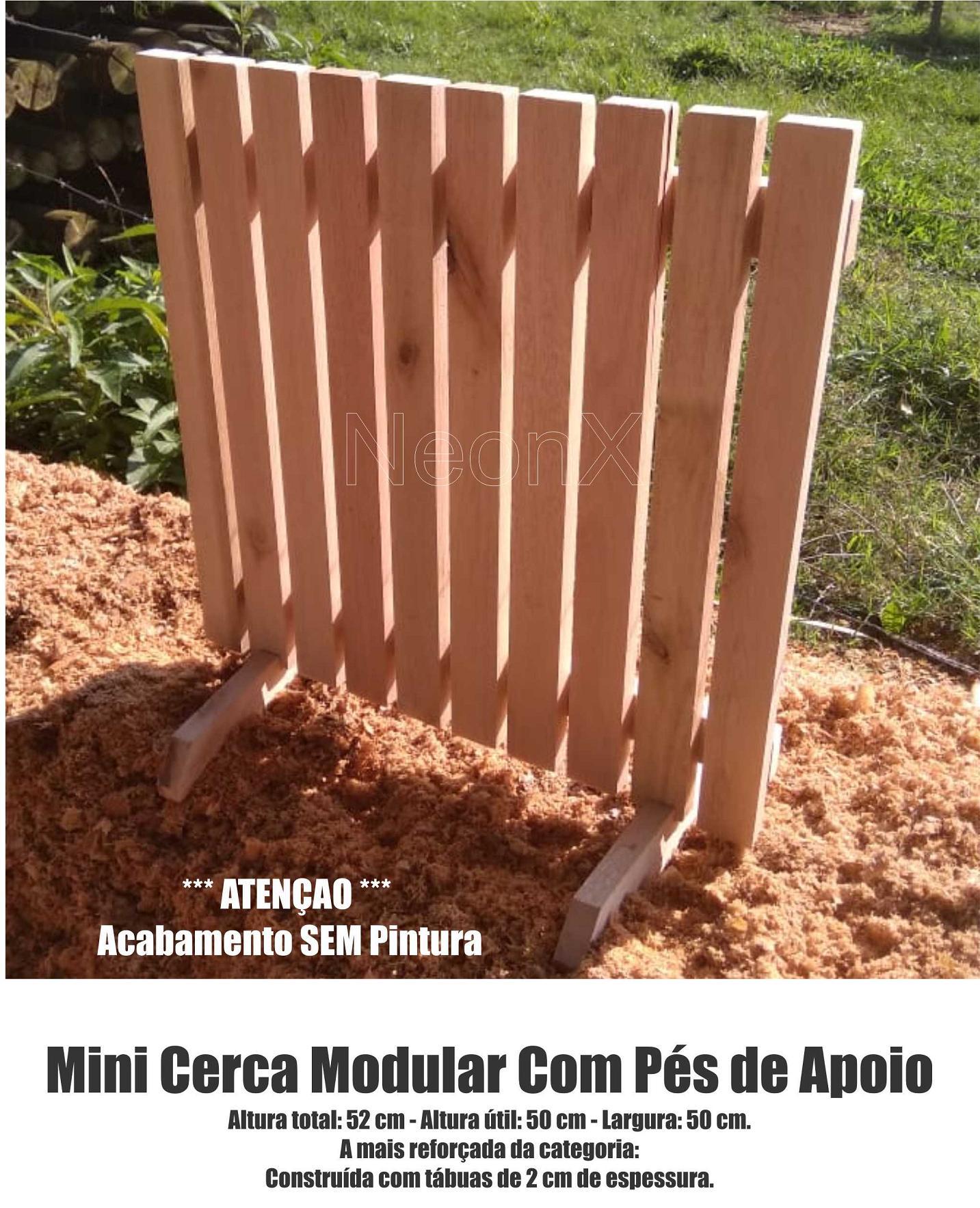 Cerca para Jardim Horta Decoração, Interna ou Externa com Pés 50x50 cm Sem Pintura NeonX