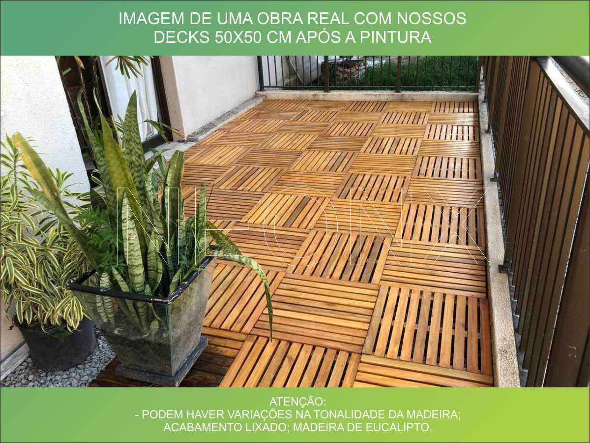 Deck De Madeira Chuveiro Box Banheiro Capacho 130x100 cm Com Pintura