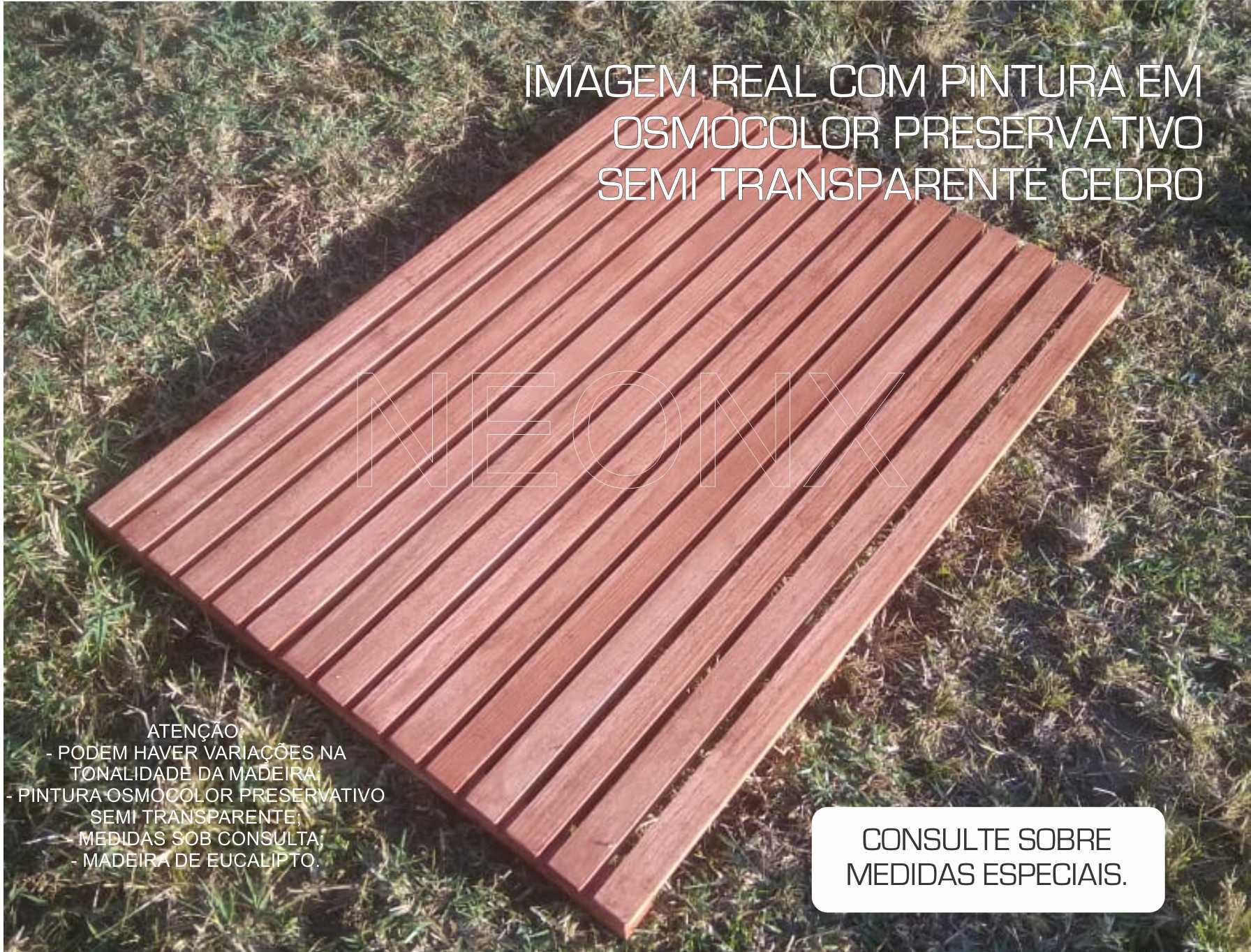 Deck De Madeira Chuveiro Box Banheiro Capacho 97x76 cm Lixado Neonx