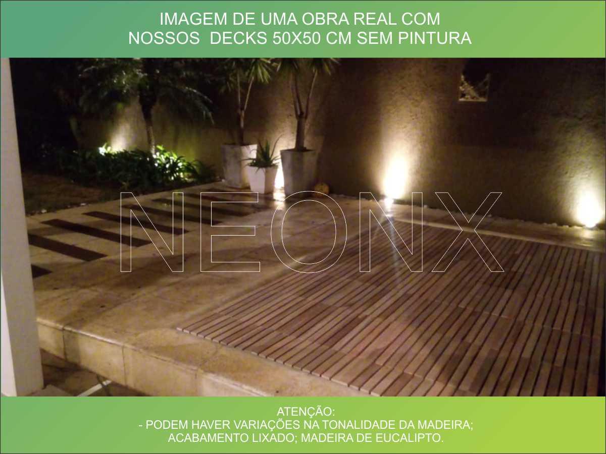Deck De Madeira Modular 100x100cm Com Pintura Neonx