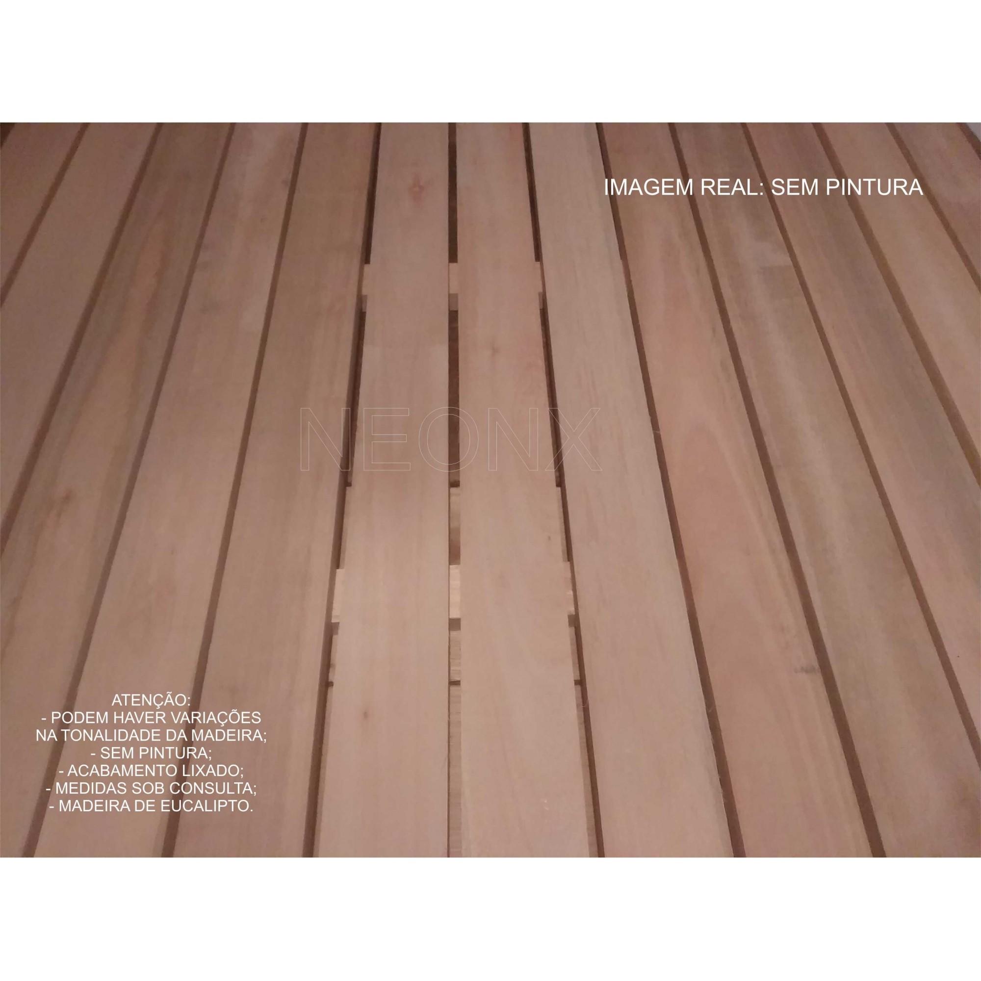 Deck De Madeira Modular 100x100cm Réguas 7 cm Neonx