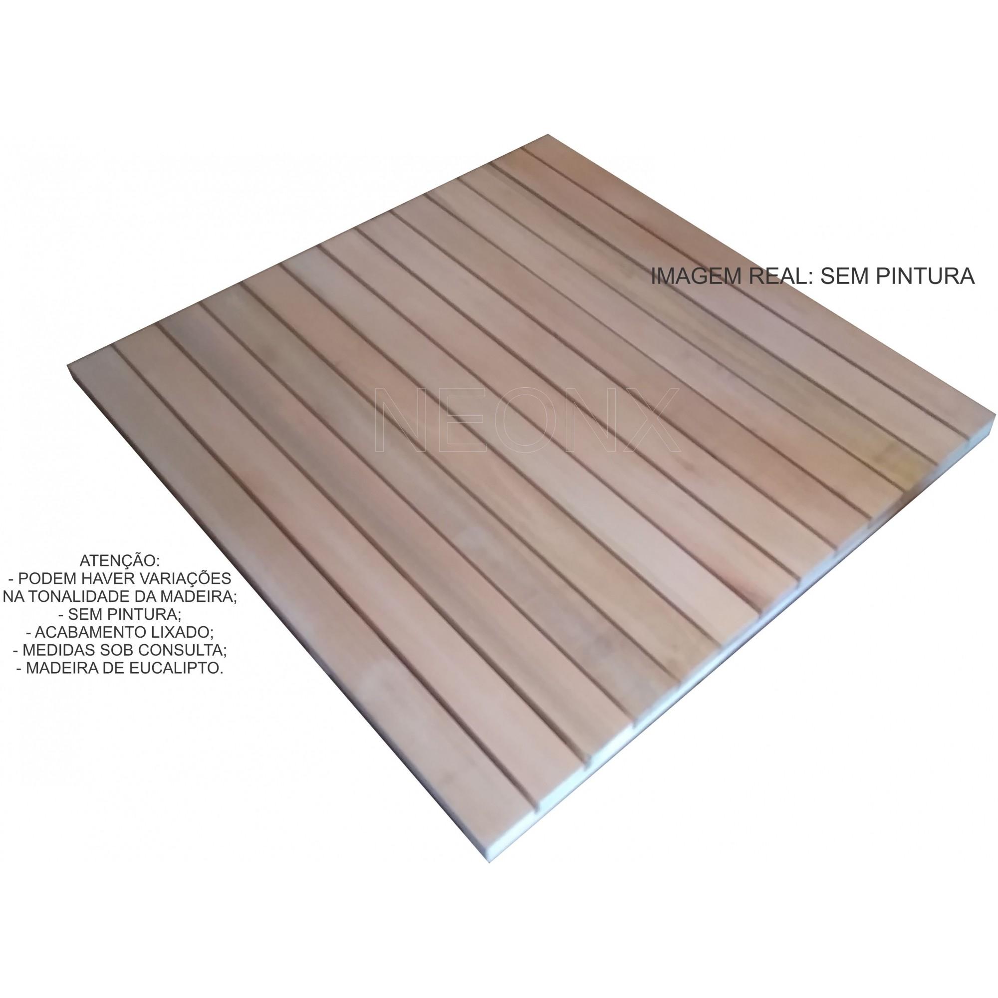 Deck De Madeira Modular 100x100cm Réguas 7 cm Neonx Com Pintura
