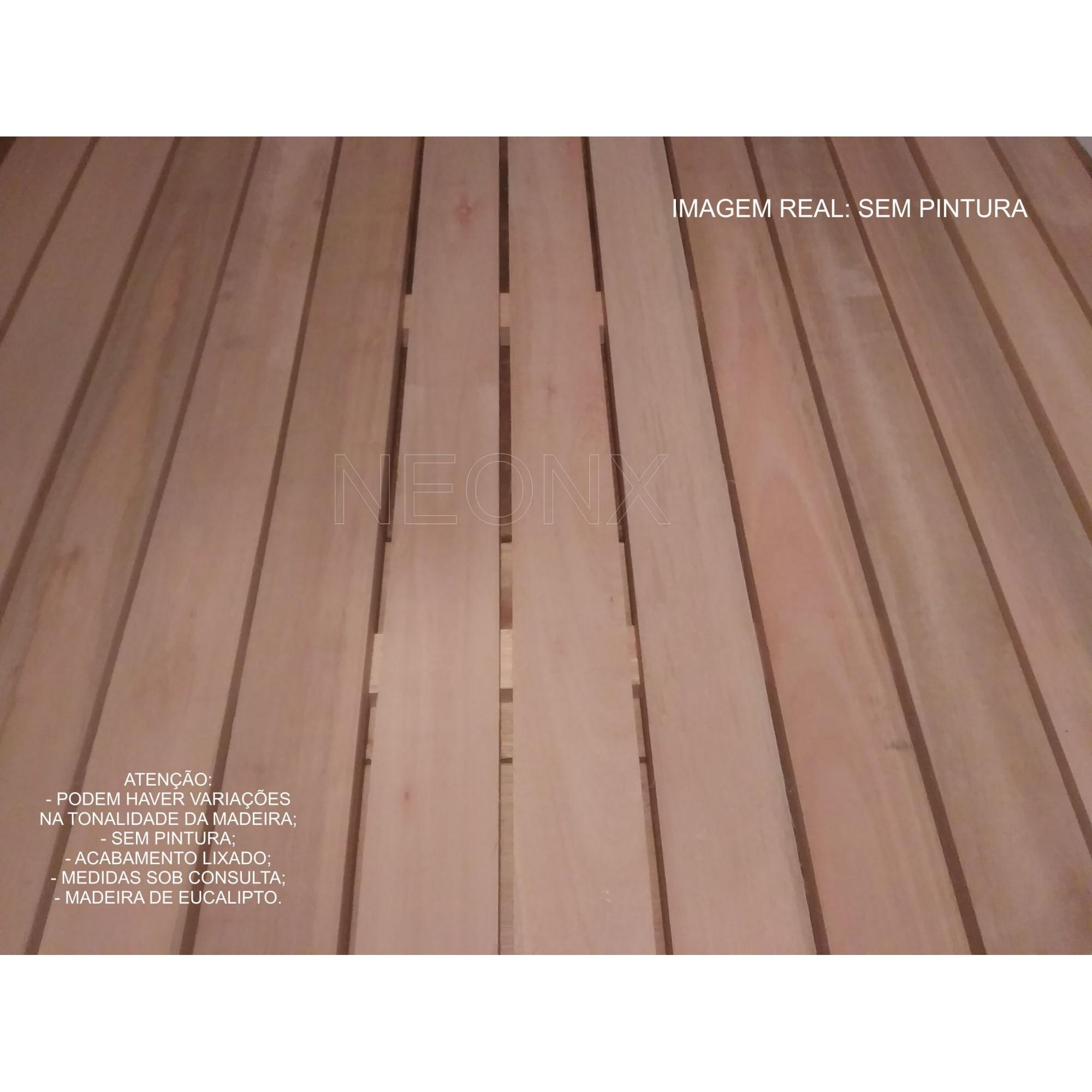 Deck De Madeira Modular 100x100cm Réguas 7 cm Tratado (Pintado)  Neonx