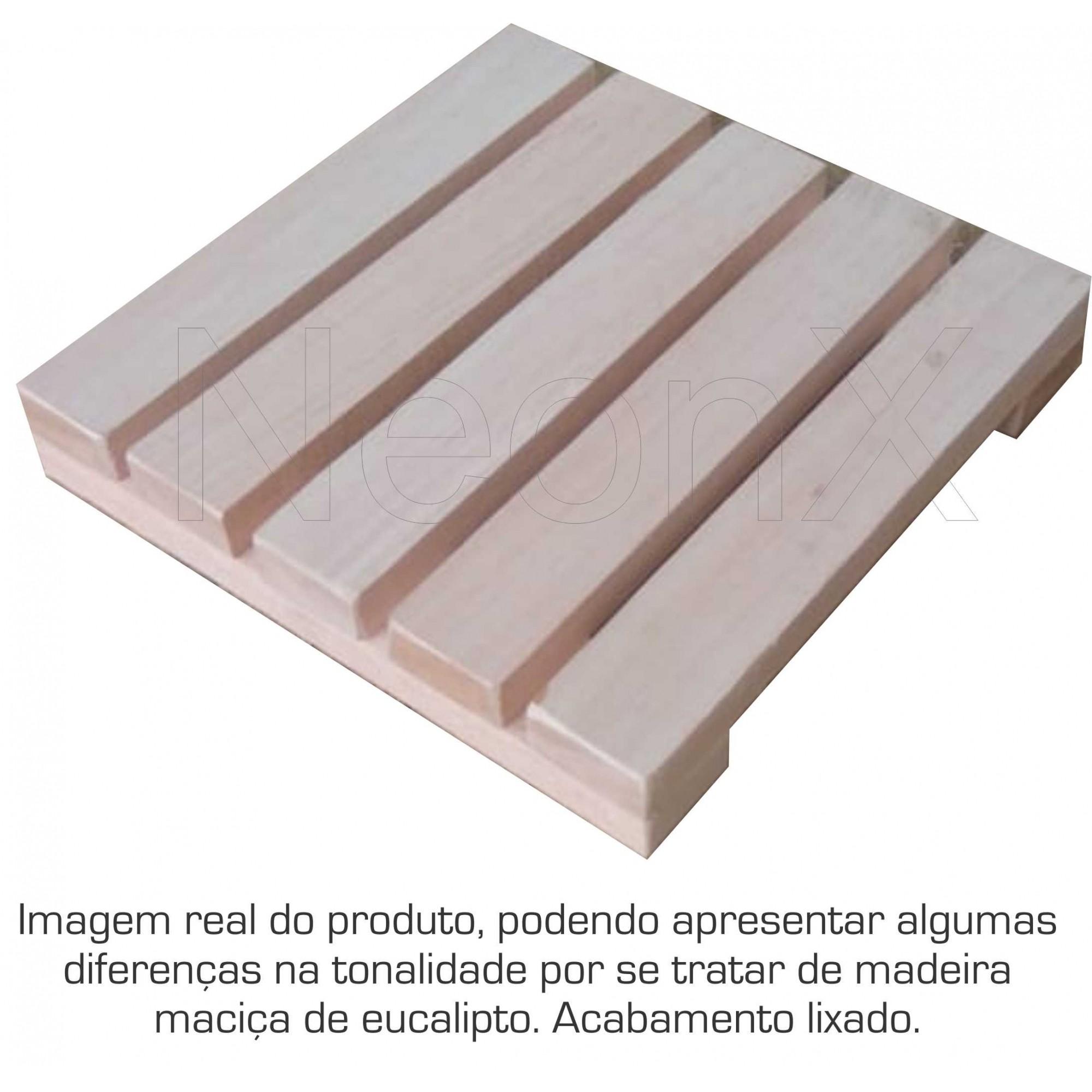 Deck De Madeira Modular 25x25cm Com Pintura Neonx