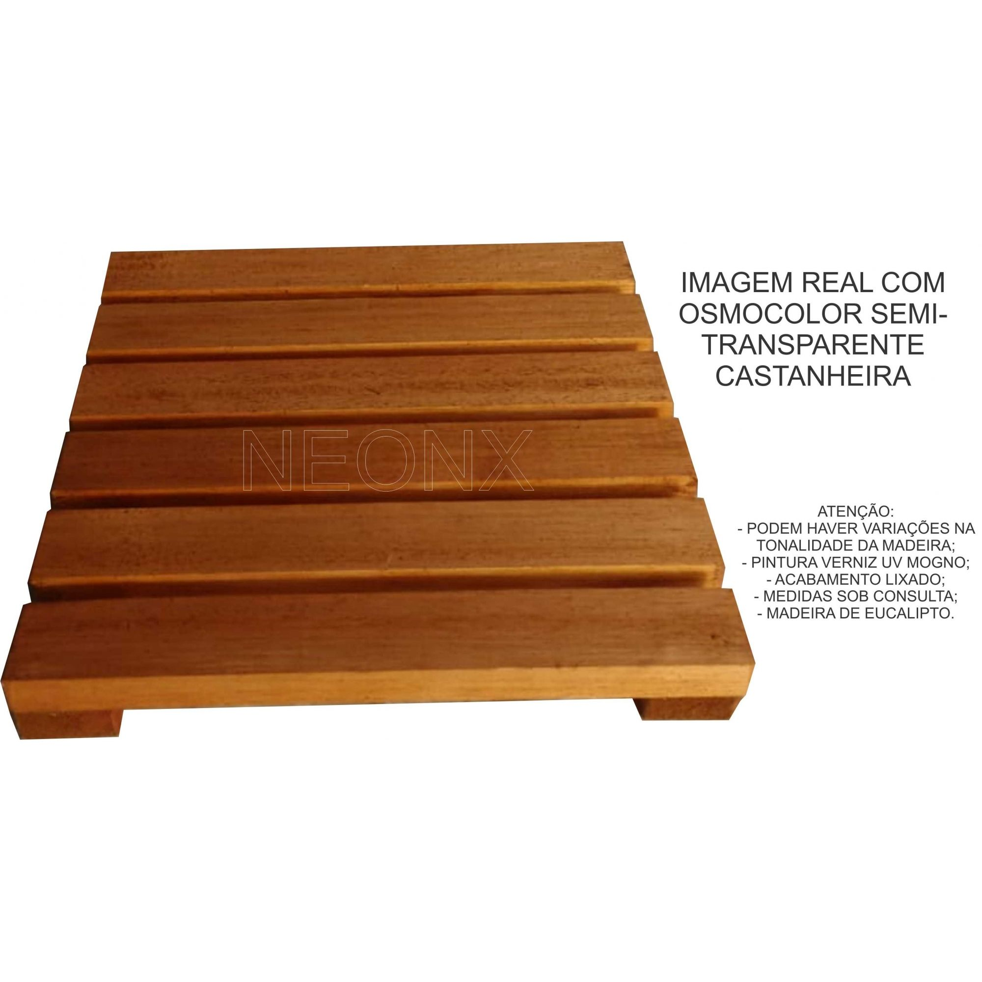 Deck De Madeira Modular 30x30 Cm Com Pintura Neonx