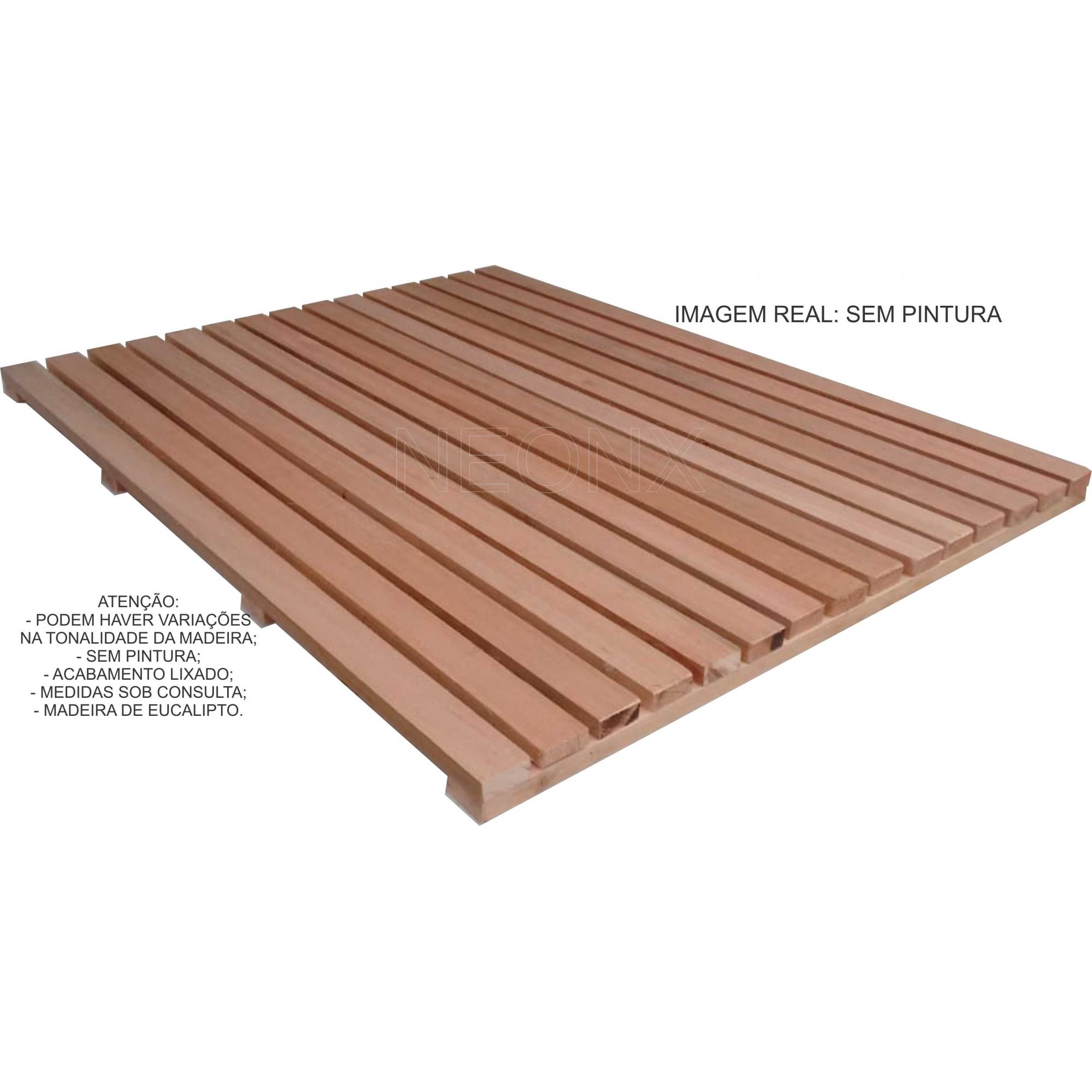 Deck De Madeira Modular 40x50cm Sem Pintura Neonx