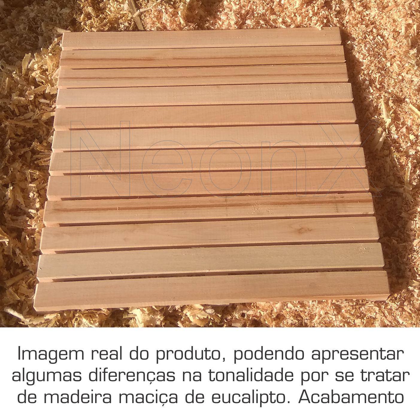 Deck De Madeira Modular 60x60cm Sem Pintura Neonx