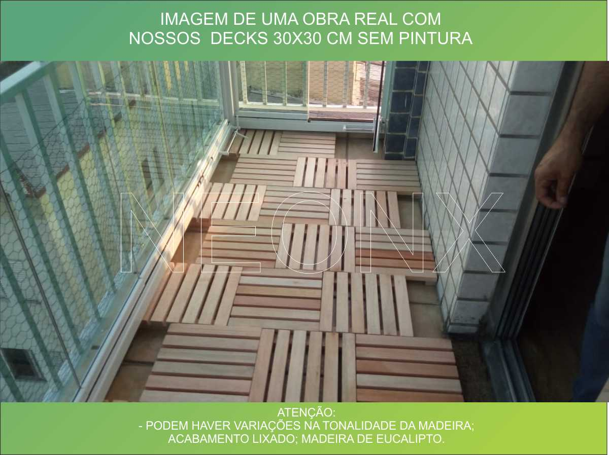 Deck De Madeira Modular Base Madeira 100x100cm Neonx