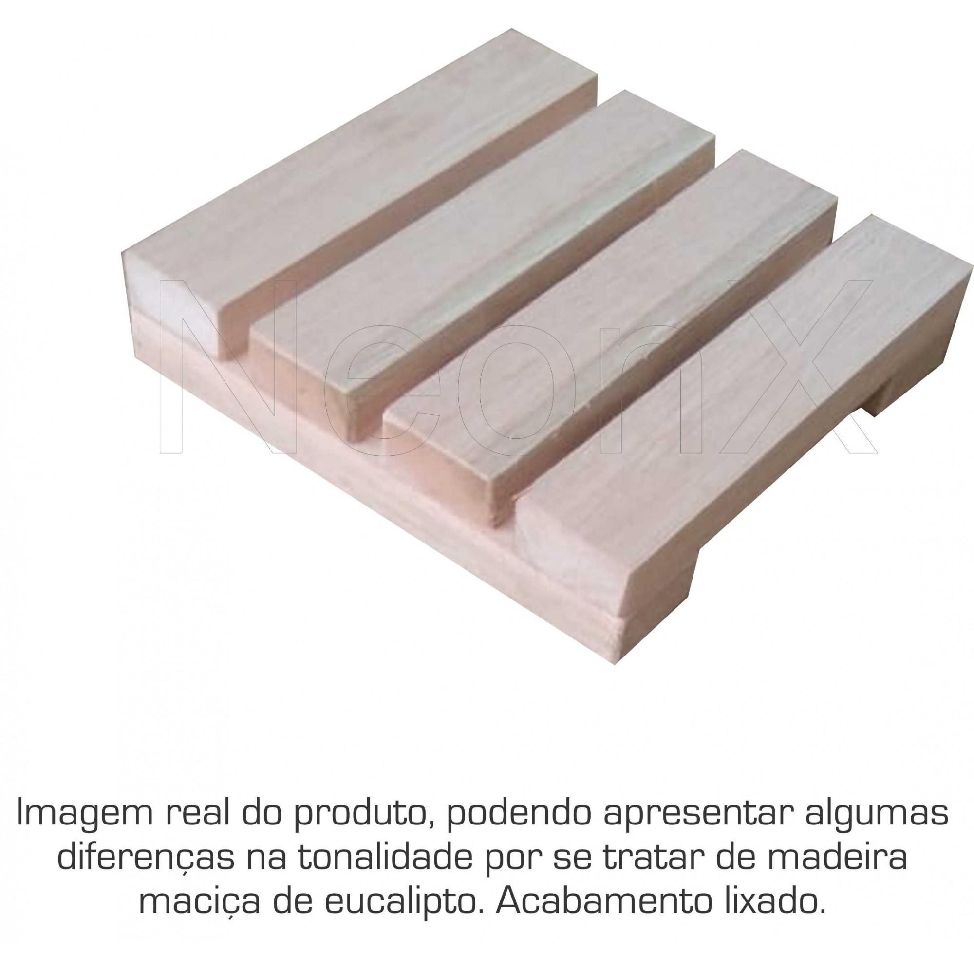Deck Madeira Modular 20x20 Cm Réguas 4 cm NeonX
