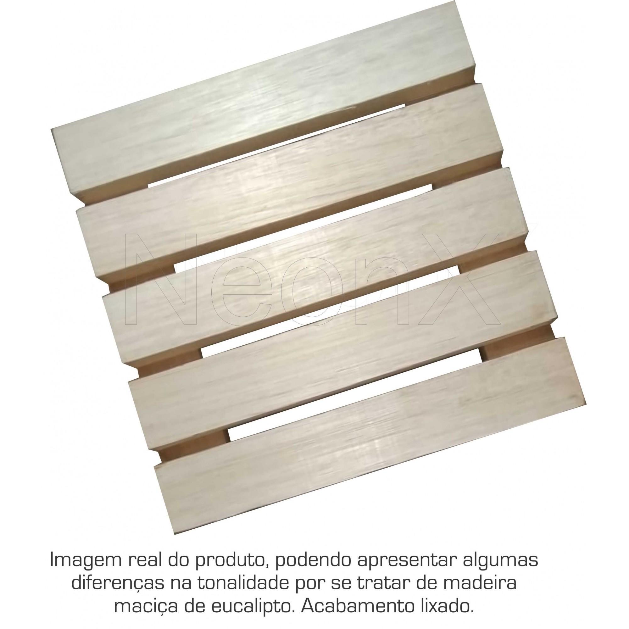 Deck Madeira Modular 25x25 Cm Réguas 4 cm NeonX