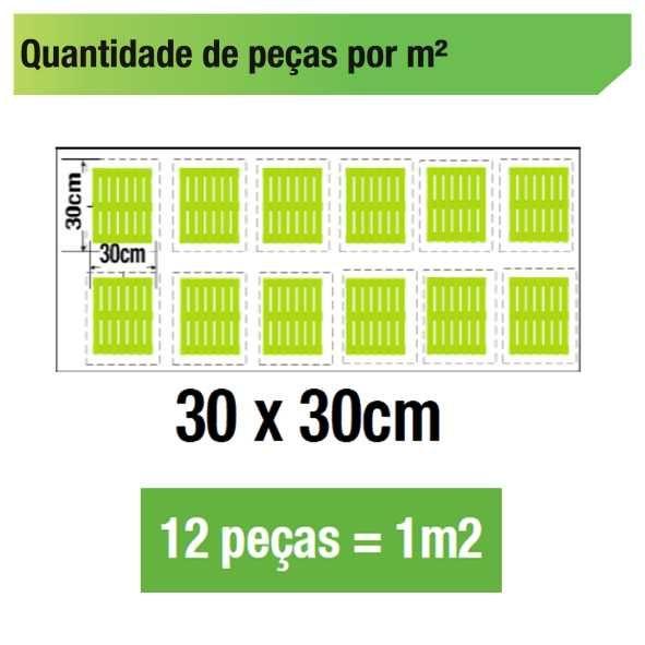Deck Madeira Modular 30x30 cm Natural em Pinus Base de Madeira NeonX