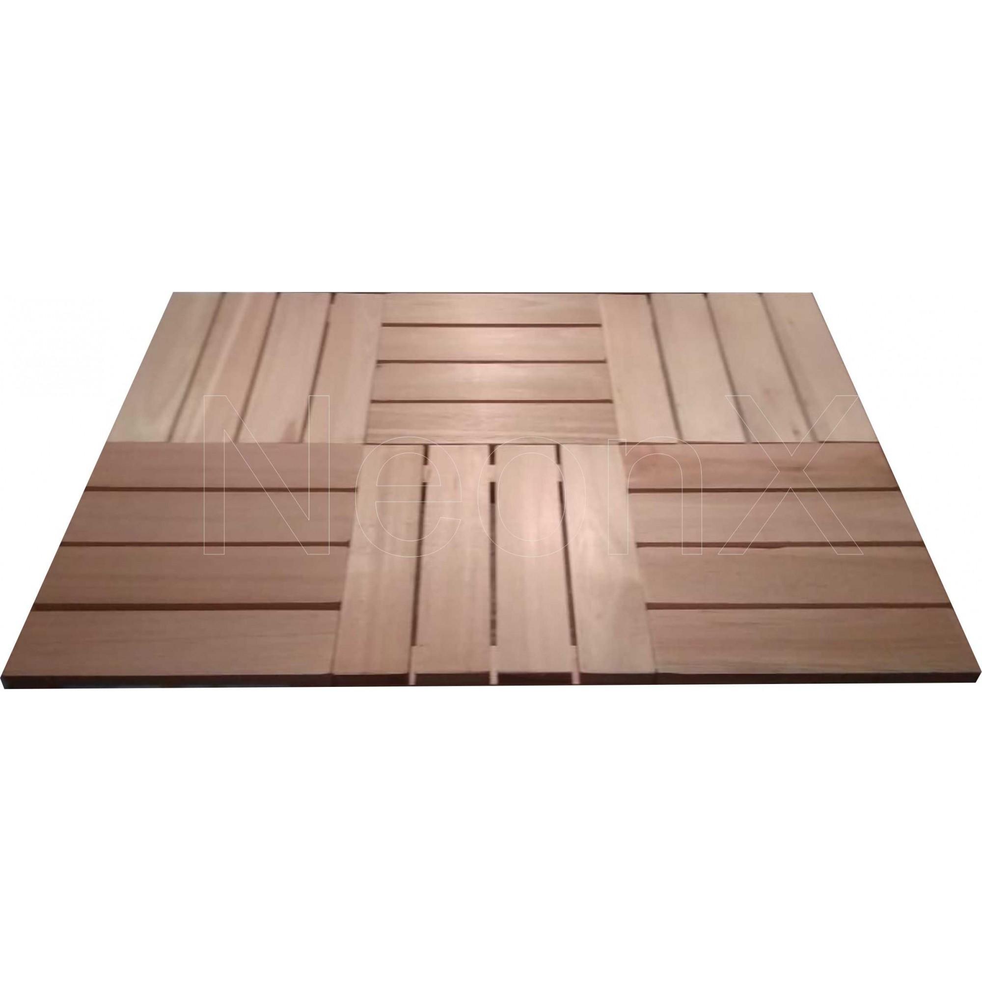 Deck De Madeira Modular 30x30 Cm Réguas 7 cm NeonX