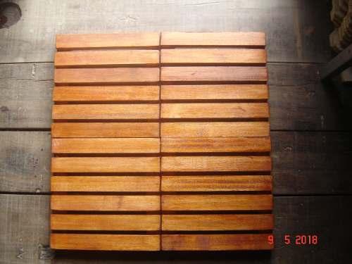 Kit 10 Unidades Deck De Madeira Modular Base 30x30 Cm Neonx Pintado