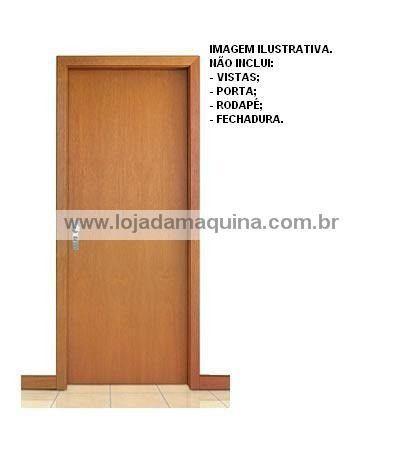 Kit 5 Un Forra Batente De Porta Madeira 2,10x0,80x0,14m Eucalipto