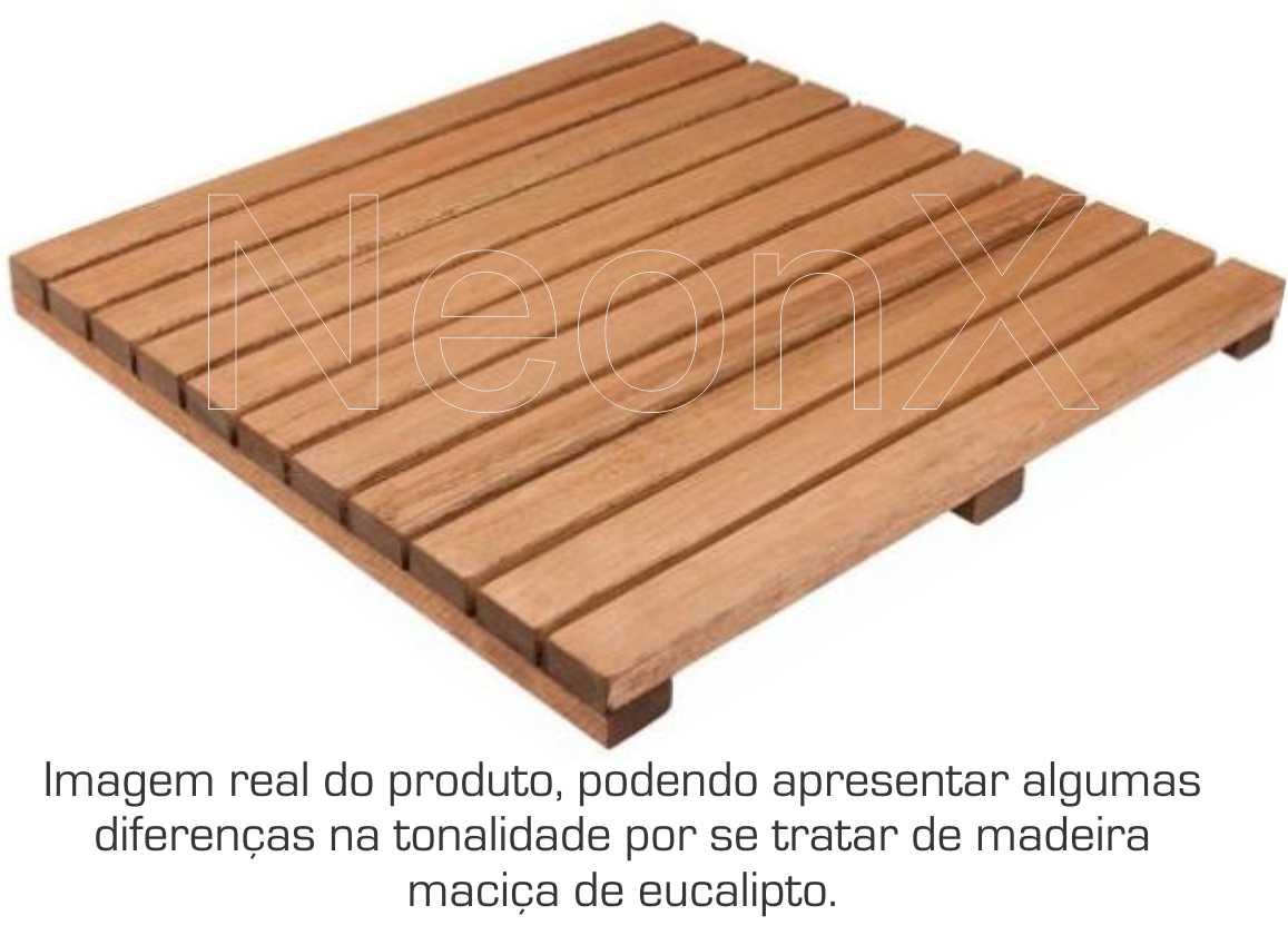 Kit 6 Unidades Deck De Madeira Modular Base 50x50 Cm Neonx