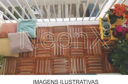 Kit 75 Unidades Deck De Madeira Modular Base 50x50 Cm Neonx