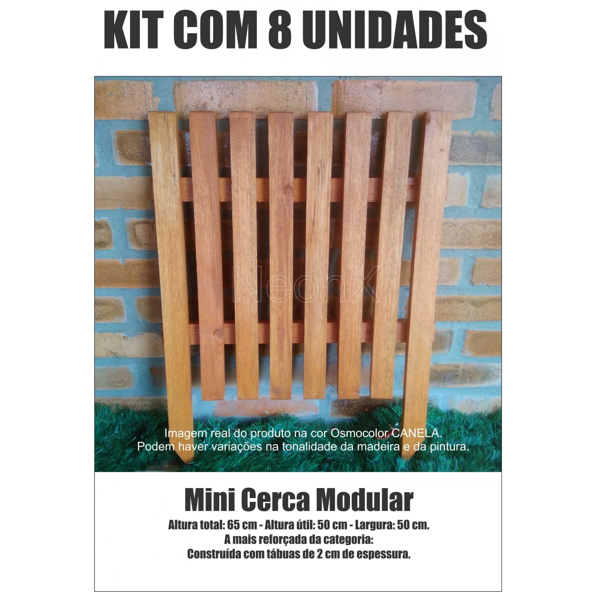 Kit 8 Un. Cerca para Jardim, Horta ou Decoração Clássica Modular Reforçada 50x65 cm Neonx