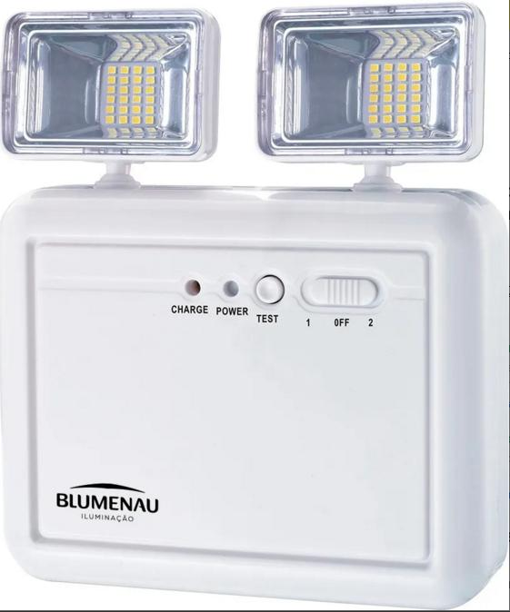 Luminária de Emergência 1200 Lumens 2 Faróis