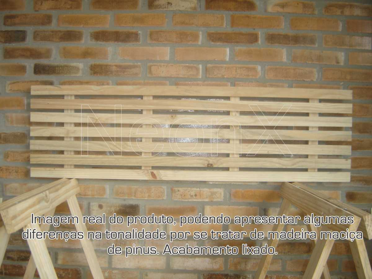 Mesa Jardim Churrasco Ripada 2 Cavaletes 1 Tampa e 1 Prateleira 140x80cm NeonX