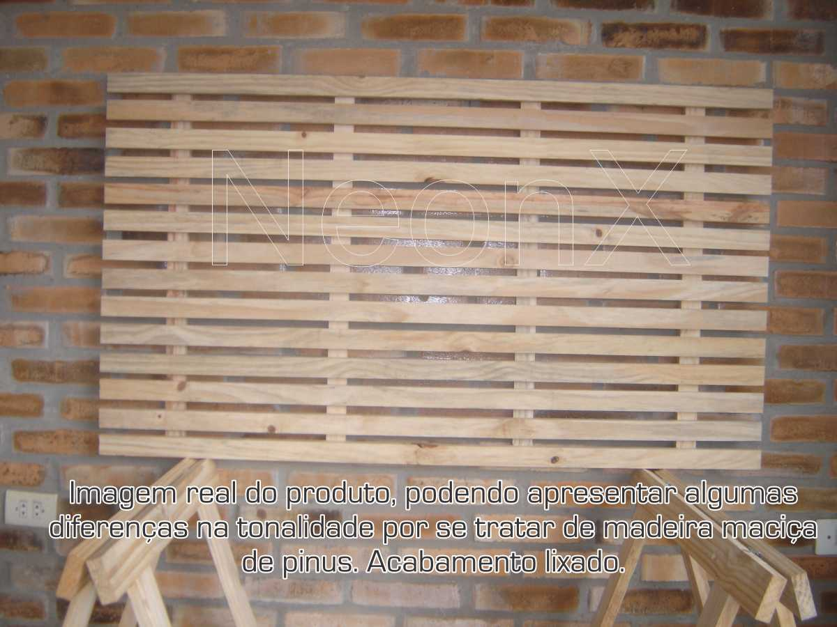Mesa Jardim Com Tampa Ripada + 2 Cavaletes + Prateleira Ripada 140x80 cm NeonX