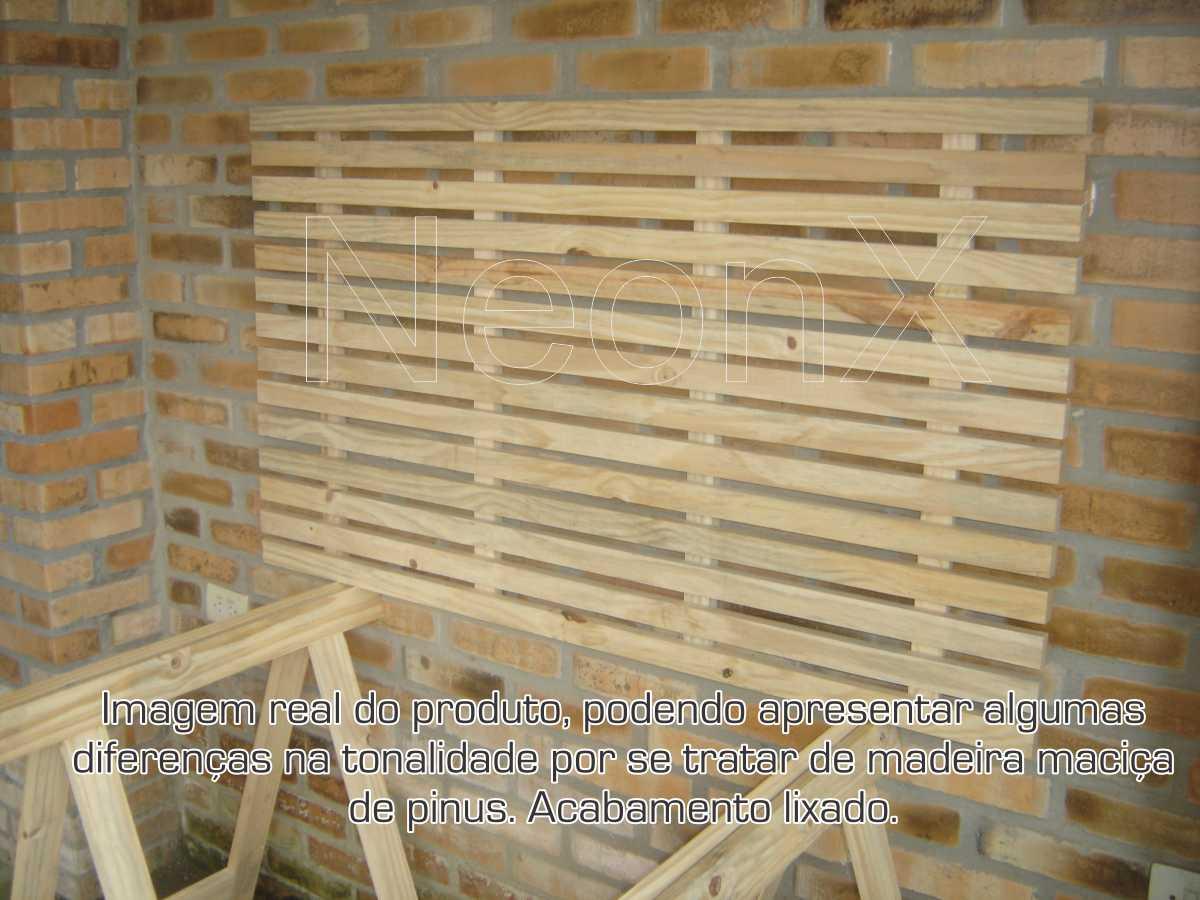 Painel Vertical Floreira, Deck, Prateleira, Mini Palet, Suporte Floreira, Tampa para Mesa, Em Pinus 140x80 cm Acabamento Lixado NeonX
