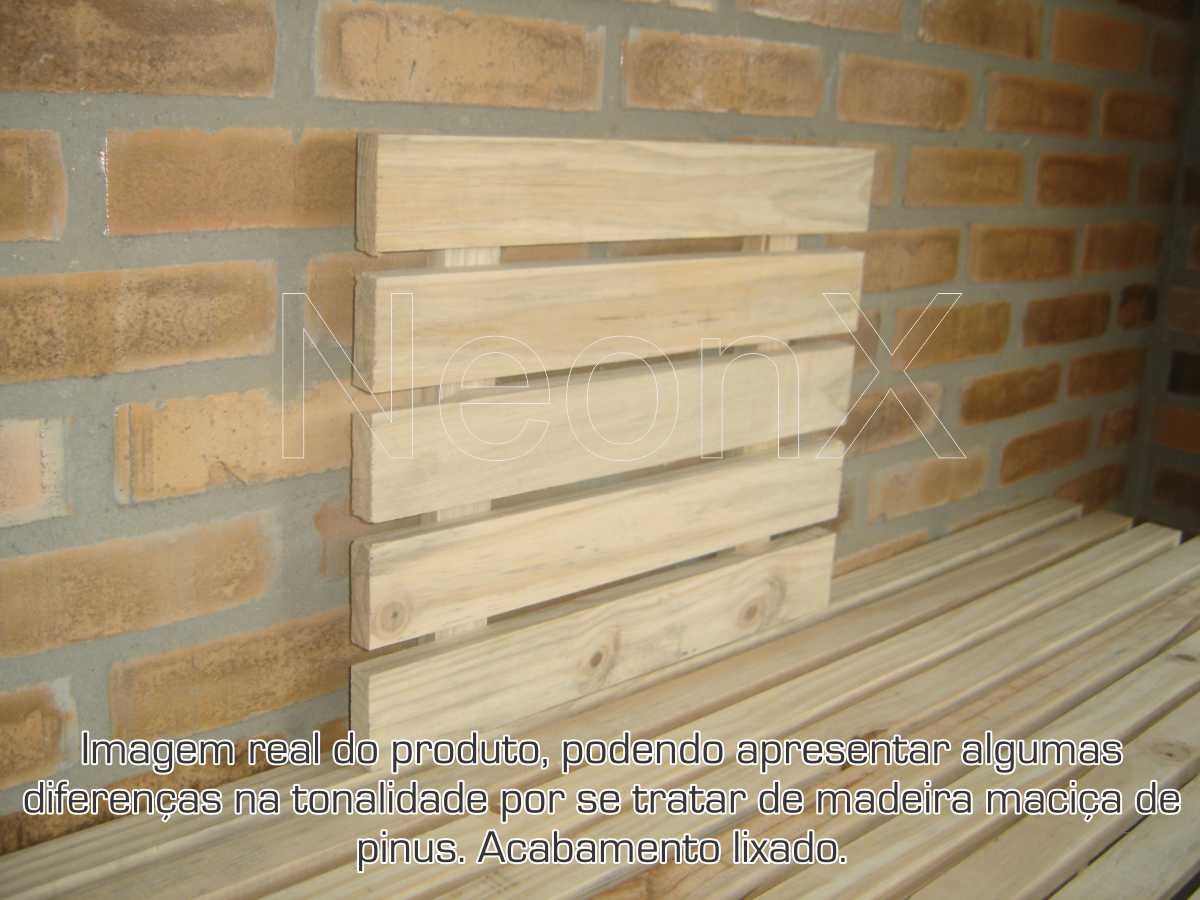 Painel Vertical Floreira, Deck, Prateleira, Mini Palet, Suporte Floreira Em Pinus Acabamento Lixado NeonX